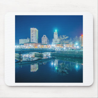 providence rhode island at night mouse pad