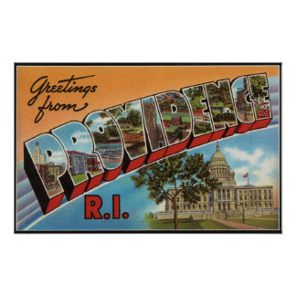 Providence Rhode Island Capital Building Poster
