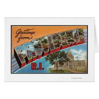 Providence, Rhode Island (edificio capital) Tarjeta