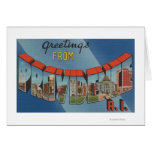 Providence, Rhode Island - Large Letter Scenes Greeting Card