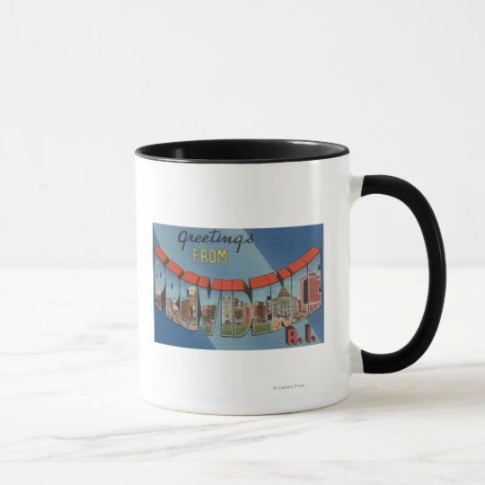 Providence, Rhode Island - Large Letter Scenes Mug