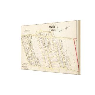 Providence Rhode Island Map Canvas Print