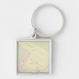 Providence Rhode Island Map Silver-Colored Square Keychain