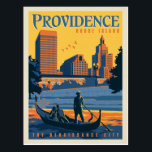 "Providence, Rhode Island | The Renaissance City Postcard<br><div class=""desc"">Anderson Design Group is an award-winning illustration and design firm in Nashville,  Tennessee. Founder Joel Anderson directs a team of talented artists to create original poster art that looks like classic vintage advertising prints from the 1920s to the 1960s.</div>"