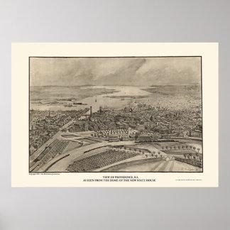 Providence RI Panoramic Map - 1896 Posters