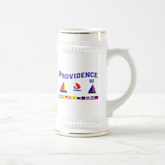 Providence RI Signal Flags Beer Stein