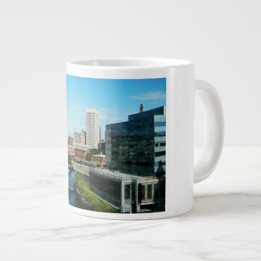 Providence RI Skyline Extra Large Mugs