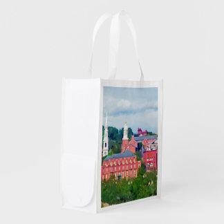 Providence RI Skyline II Reusable Grocery Bags