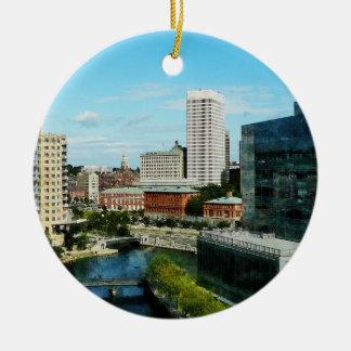 Providence RI Skyline Ornament