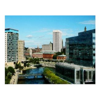 Providence RI Skyline Postcard