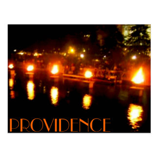 Providence water fire postcard