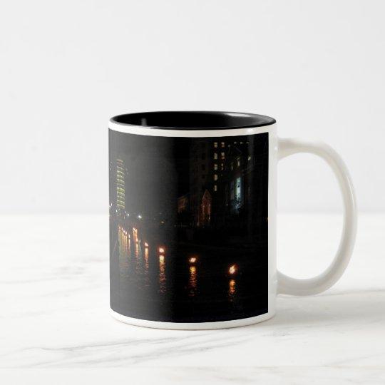providence waterfire Two-Tone coffee mug