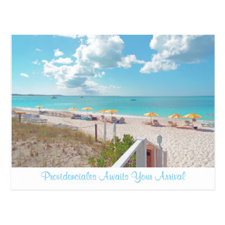 """PROVIDENCIALES AWAITS YOUR ARRIVAL"" POSTCARD"