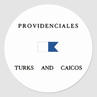 Providenciales Turks and Caicos Alpha Dive Flag Stickers