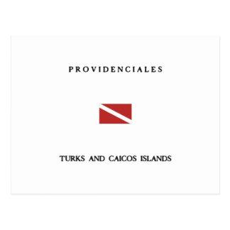 Providenciales Turks and Caicos Islands Scuba Dive Postcard