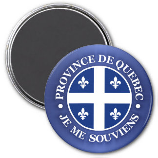 Province de Quebec 3 Inch Round Magnet