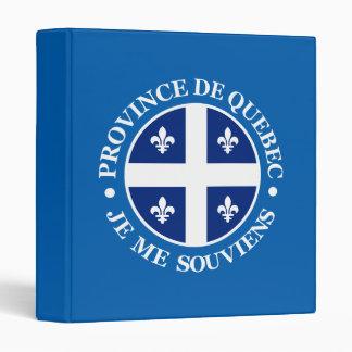 Province de Quebec 3 Ring Binder