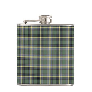 Province of Alberta Canada Tartan Hip Flask