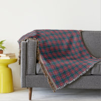 Province of British Columbia Canada Tartan Pattern Throw
