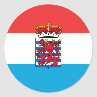 Province Of Luxembourg, Belgium flag Classic Round Sticker