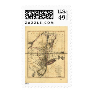 Province of New York & New Jersey Map (1776) Stamp