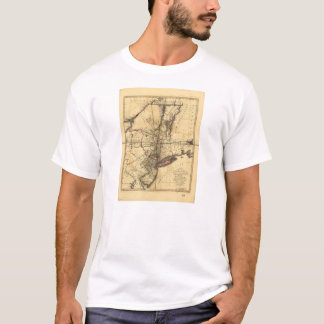 Province of New York & New Jersey Map (1776) T-Shirt