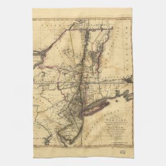 Province of New York & New Jersey Map (1776) Towel