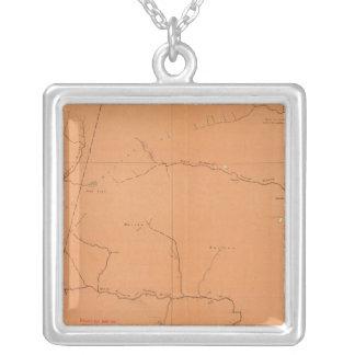 Province of Nova Scotia Island of Cape Breton 5 Square Pendant Necklace