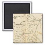 Provinces, France 2 Inch Square Magnet