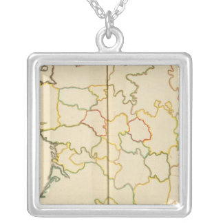 Provinces, France Outline Personalized Necklace