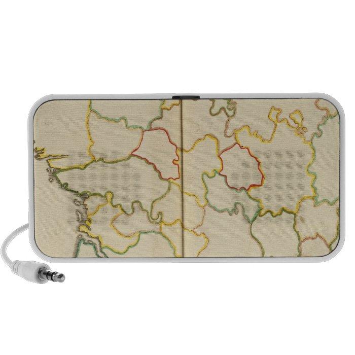 Provinces, France Outline Portable Speaker