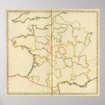 Provinces, France Outline Posters