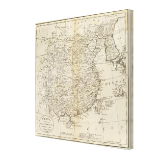 Provinces of China Canvas Print