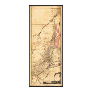 Provinces of New York and New Jersey (1768) Canvas Print