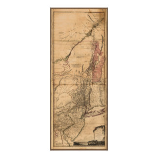 Provinces of New York and New Jersey (1768) Poster