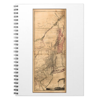 Provinces of New York and New Jersey (1768) Spiral Notebook