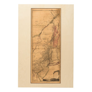 Provinces of New York and New Jersey (1768) Wood Wall Art