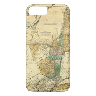 Provinces of New York New Jersey Map (1776) iPhone 8 Plus/7 Plus Case
