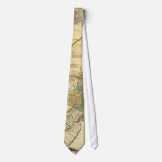 Provinces of New York New Jersey Map (1776) Neck Tie