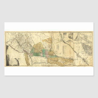 Provinces of New York New Jersey Map (1776) Rectangular Sticker