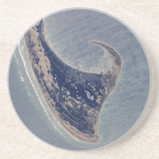 Provincetown Aerial Photograph Drink Coaster