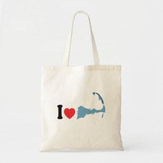 "Provincetown ""amo"" diseño bolsa tela barata"