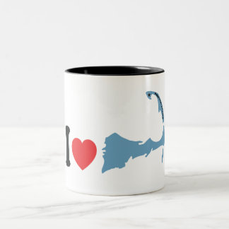 "Provincetown ""amo"" diseño taza dos tonos"