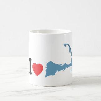 """Provincetown """"amo"""" diseño taza básica blanca"""