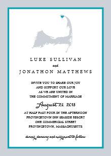 Cape cod invitations announcements zazzle provincetown cape cod wedding invitation stopboris Images