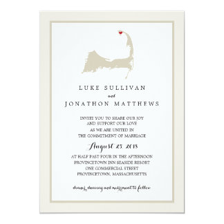 Provincetown Cape Cod | Wedding Invitation