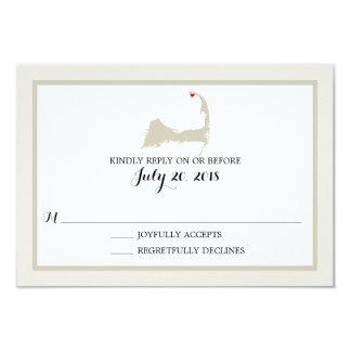 Provincetown Cape Cod   Wedding RSVP Card