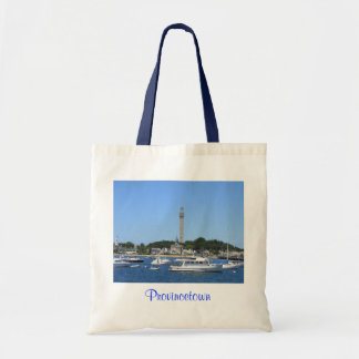 Provincetown Harbor and Pilgrims Monument Tote Bag