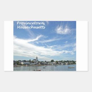 Provincetown Harbor Rectangle Sticker