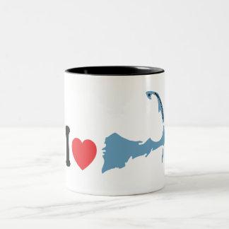 "Provincetown ""I Love"" Design. Two-Tone Coffee Mug"